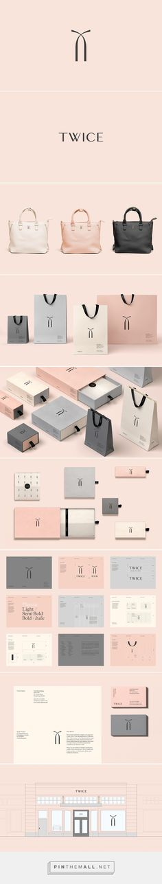Twice Fashion packaging branding on Behance by Socio Design curated by Packaging Diva PD. A Chinese fashion accessories brand formed by Tina Tian and Dr Mirko Wormuth in Beijing. Isn't this pretty? 2015 top team packaging pin.