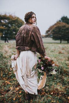 We love this rock n roll bridal shot! Bohemian   Boho   Rocker   Grunge   Free Spirit   Wedding   Bride   Photography   Ideas