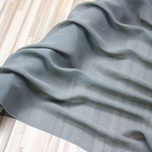 Tkanina jedwabna ŻORŻETA, #20 kolor: szary, zielony, szerokość: 110 cm, grubość: 8mm, sprzedaż przez 2 m(China)