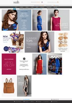 Wallis's website shows how a grid layout and product images can be used to put the focus on the product.    Read more on our blog on our blog on our Favourite eCommerce Websites https://www.onestop-webshop.co.uk/blog/favourite-ecommerce-websites/