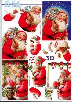 BONNE JOURNEE A TOUTES - Santa 3D toppers