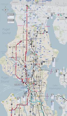 Seattle public transport route map