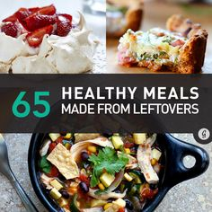 Never Waste Food (or Money) Again With These Meal Ideas #healthy #recipes