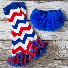 Baby Girl Ruffle Bloomers Legwarmers Set Photo Prop Fourth of July Patriotic Red White Blue Army Daughter Take Home Outfit Cake Smash on Etsy, $15.95