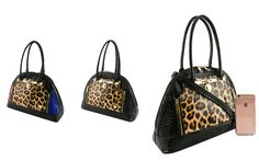 #FashionHandbags #DesignerHandbags #Designertophandlebag #Designertophandlebags #tophandle  #tophandlebag  #womantophandle   WWW.WHOLESALENEOBAGS.COM  LANY5748STIG LANY DESIGNER PATENT LEOPARD TOP HANDLE BAG  Zipper top closure  Textured faux leather  Front 2 zippers & magnetic button pocket  Rear zipper pocket   Inside lining with open/zipper pockets  22 inch handles & 52 inch adjustable strap  15 (W) x 6 (D) x 11 (H) inches  Extra shopper bag 14 (W) x 3.5 (D) x 15.5