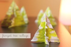 Fringed Paper Tree Village