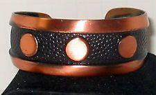 LP   Fabulous Vintage Bell Mark Solid Copper Cuff Bracelet