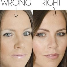 Hacks, tips and tricks that'll fix common makeup mistakes; How to properly apply make up; Right and wrong way to do your makeup; Eyeliner Hacks, Eyeliner Styles, Eyeliner Ideas, Fix Makeup, Eyeshadow Makeup, Makeup Tips, Makeup Tutorials, Eyeshadow Guide, Yellow Eyeshadow