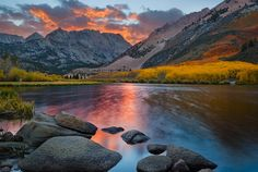 Sunset Lake, Bishop, CA. Pic by Mark Geistweite. Posted by Photobotos.com