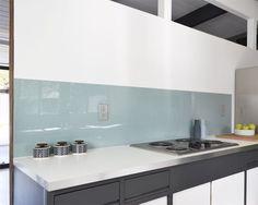 acrylic sheet backsplash - Not Your Basic Backsplash: A Lovely, Low-Maintenance Alternative to Tile