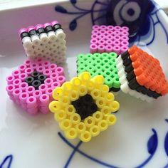Haribo Konfekt hama perler beads by mitkreativekaos Hama Beads 3d, Pokemon Perler Beads, 3d Perler Bead, Fuse Beads, Pearler Beads, Pearler Bead Patterns, Perler Patterns, Candy Crafts, Iron Beads
