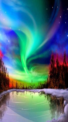 Amazing Aurora Borealis over Alaska. Anchorage's bright starry nights are nature's perfect backdrop for dancing northern lights, also known as the aurora borealis. All Nature, Science And Nature, Amazing Nature, Beautiful Images Of Nature, Beautiful Sky, Beautiful Landscapes, Beautiful Places, Beautiful Morning, Naturally Beautiful