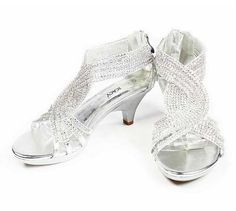 Low Heel Evening Shoes | low heels prom shoes under $30 dollars- Bridal prom evening ...