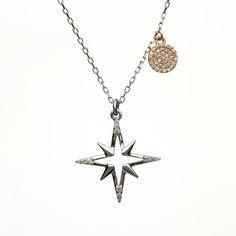Star CZ pendant #houseoflor #irishjewelry #irishgold #pendant  #sterlingsilver #rosegold