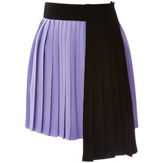 Fausto Puglisi Lilac And Black Pleated Skirt ($1,195) ❤ liked on Polyvore featuring skirts, knee length pleated skirt, draped skirt, lilac skirt, fausto puglisi and pleated skirt