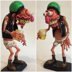 Image may contain: 2 people Polymer Clay Sculptures, Sculpture Clay, Monster Art, 3d Model Character, Character Design, Tatto Old, Clay Monsters, Pinstripe Art, Marionette