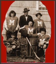 """-snip- """"My Grandpa Beaudin(Coach) and My Aunts, circa Female Hockey on the Prairies- Classic! Sports Personality, Cold Ice, Vintage Soul, Aunts, You Are Awesome, Hockey, Fan, Female, Classic"""