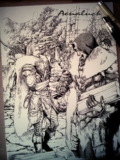 Pen sketch(no erasing)V.2 by aenaluck.deviantart.com on @DeviantArt