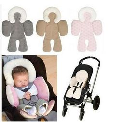 Reversible Newborn Baby Head and Body Support Cushion For Stroller and Car Seat