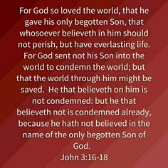 Image result for john 3: 16-18 kjv