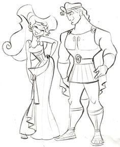 Hercules and Megara - (C)DISNEY - Steve Thompson Another film I worked on back in the day was Hercules. I actually worked on the characters Pain and Panic but thought Id do a quick sketch of the two main characters. ive recently posted Jane from Ta Megara Disney, Disney Pixar, Hercules Disney, Disney And Dreamworks, Disney Kunst, Arte Disney, Disney Magic, Disney Art, Disney Sketches