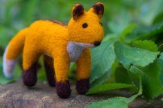 SALE wool fox Eco friendly toy Wool fox Felted от WooolyWool