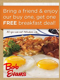 Free Breakfast at Bob Evans With Purchase