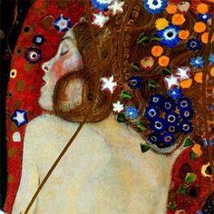 Sea Serpents (detail), Klimt