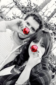 Fun Christmas couples photo idea! …