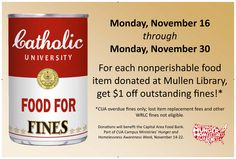 Food For Fines (Fall 2015)