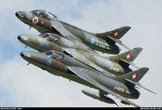 Luftwaffe, Swiss Air, Old Planes, Aviation Art, Military Aircraft, Air Force, Fighter Jets, Postwar, Hunters