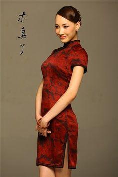 Rose. Elegant Short Sleeved Cheongsam Dresses