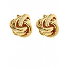 Fornash Twist Earrings ($25) ❤ liked on Polyvore featuring jewelry, earrings, accessories, brincos, schmuck, gold, twist knot earrings, knot earrings, studded jewelry and knot stud earrings