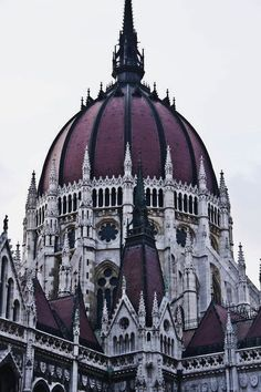 Hungary - Parliament building is one of an best example of Gothic Revival architecture in at Hungary. Architecture Baroque, Art Et Architecture, Ancient Architecture, Beautiful Architecture, Beautiful Buildings, Beautiful Places, Gothic Buildings, Budapest Hungary, Traveling Europe