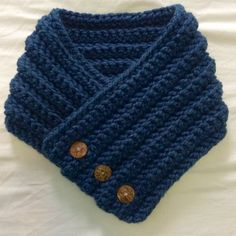 Warm and Cozy while keeping it Handsome! This is a listing for a 3 Button Wrap Scarf also popularly known as a Boston Harbor Scarf. It is