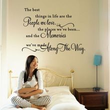 THE BEST THINGS IN LIFE WALL QUOTE DECAL ART STICKER VINYL HOME DECOR SAYINGS(China (Mainland))