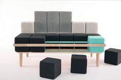 Bloc'd Sofa par Scott Jones : Canapé Modulable et Ludique