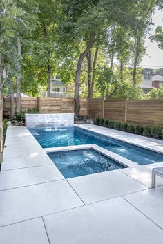 Having a pool sounds awesome especially if you are working with the best backyard pool landscaping ideas there is. How you design a proper backyard with a pool matters. Pool Spa, Swimming Pool Landscaping, Small Swimming Pools, Small Backyard Pools, Backyard Pool Designs, Small Pools, Swimming Pool Designs, Outdoor Pool, Backyard Landscaping