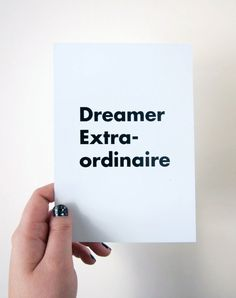 Dreamer Extraordinaire 5 x 7 Print by helloquiettiger on Etsy, $8.00