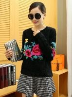 Cheapest Sweater Fashionable Korean Printing Easy Comfortable Sweater Black