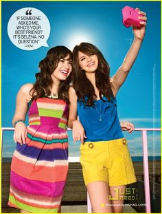 Demi and Selena. I like Demi's songs way better than Selena's, but this is cute. :)