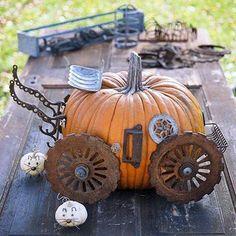 14+ No Carve Pumpkin ideas~ Love this Repurposed Junk-o'-Lantern Pumpkin~