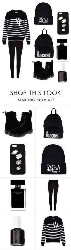 """""""Black"""" by knopa-oksana on Polyvore featuring мода, Dr. Martens, Moschino, STELLA McCARTNEY, Narciso Rodriguez, Essie, Each X Other, women's clothing, women и female"""