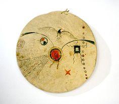 Щит Кайова. Из коллекции Victor J. Evans. Дизайн рисунка не типичен для Кайова.