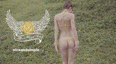 model : Elle Rose   bikini : Black Winged Rose / http://www.Newskaya.com  production : http://www.niceandsimple.co