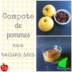 Compote de pommes aux raisins secs