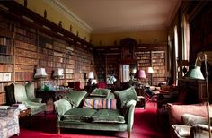"""""""Library in an Irish country house (Photo: James Fennell for """"The Irish Country House"""" by Vendome Press)"""" [From """"Sláinte to Irish Interiors!""""] -- Would love to spend a year in that room!!!"""