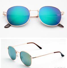 brand designer colors women Sunglasses not fade Alloy round Frame UV400 Anti-Reflective Sun glasses wholesale 5003
