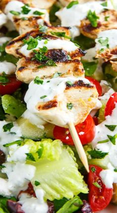 Dill chicken, Chicken skewers and Skewers on Pinterest