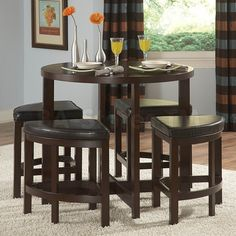 Round Bar Table And 4 Chairs